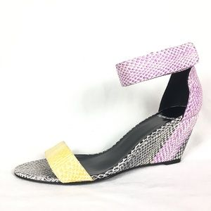 Pierre Hardy Wedges Sandals Snakeskin Leather 41